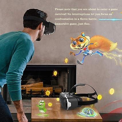 LEFXCAM VR - Auriculares de Diadema para iPhone y Android - Gafas de Realidad Virtual Universal - Juega a Tus Mejores Juegos móviles 360 películas con Gafas 3D VR Suaves y cómodas: Amazon.es: Hogar