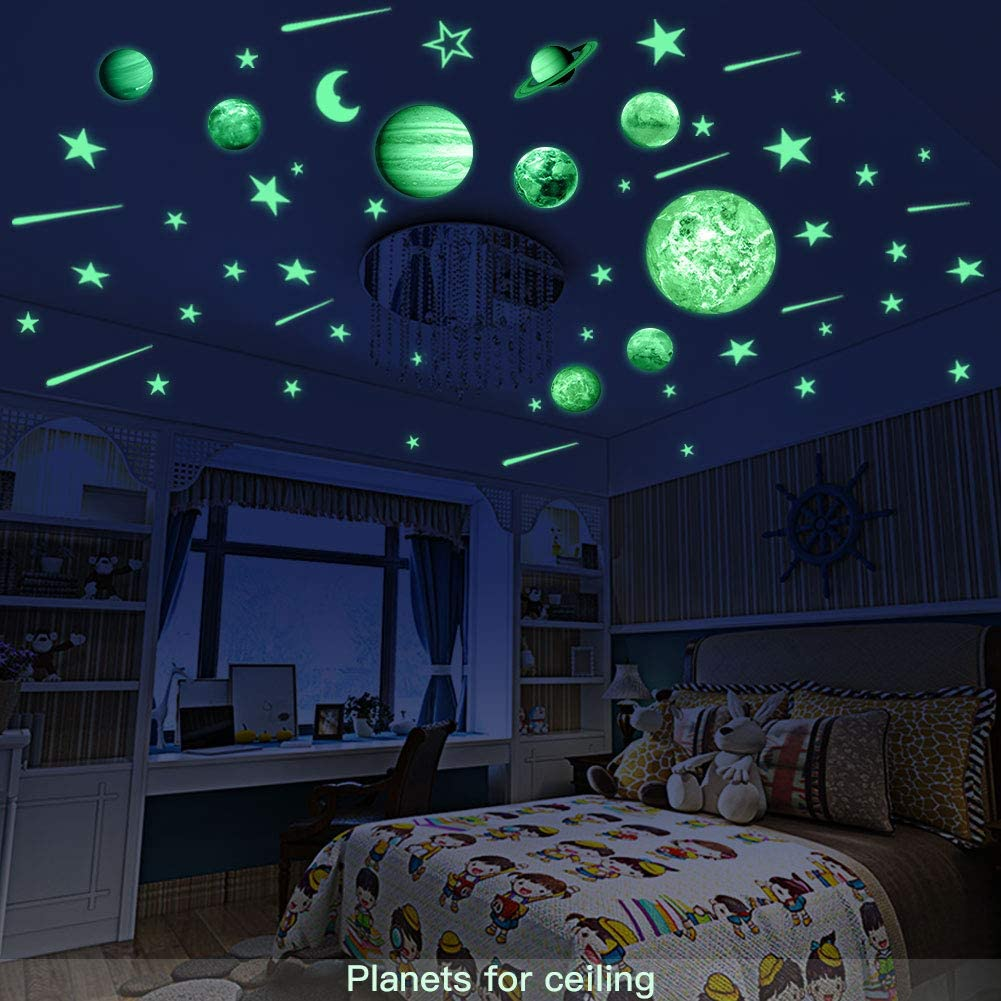 Amazon.com: Glow in the Dark Stars - Pegatinas para techo ...