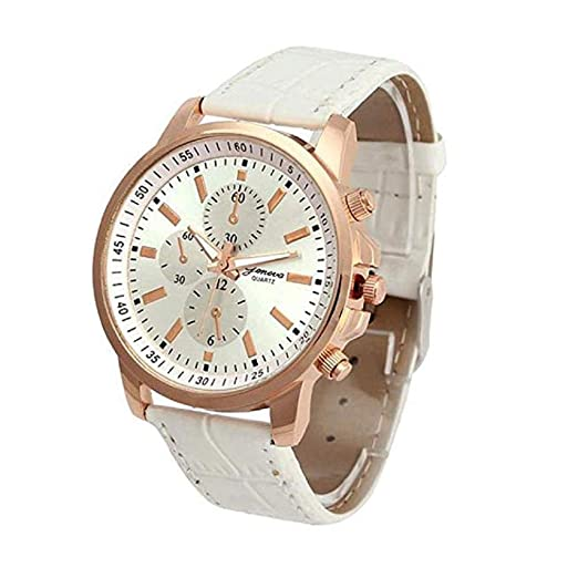 Scpink Women Quartz Watches,Clearance Analog Female Watches Wrist Watches Leather Lady Watches (Blanco): Amazon.es: Relojes