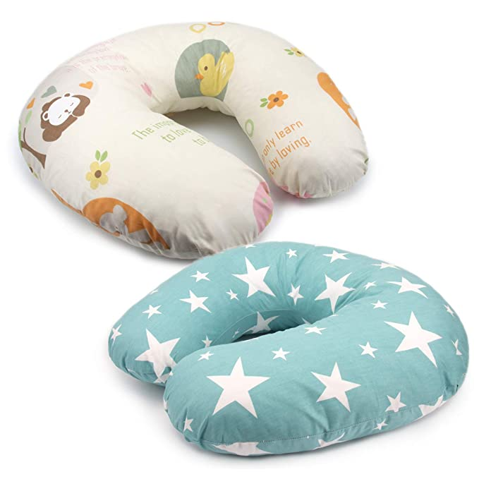 Cotton Soft PEKITAS Breastfeeding Pillow Slipcover for 20x16x5.5 Inches Cartoon Printing Coffe Owls Breathable Anti-Suffocation Tucked Zipper,Machine Washable