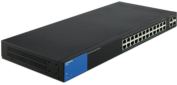74 opinioni per Linksys LGS326P Smart Switch Gigabit a 26 Porte PoE+, 2 Porte Combinate (RJ45 +