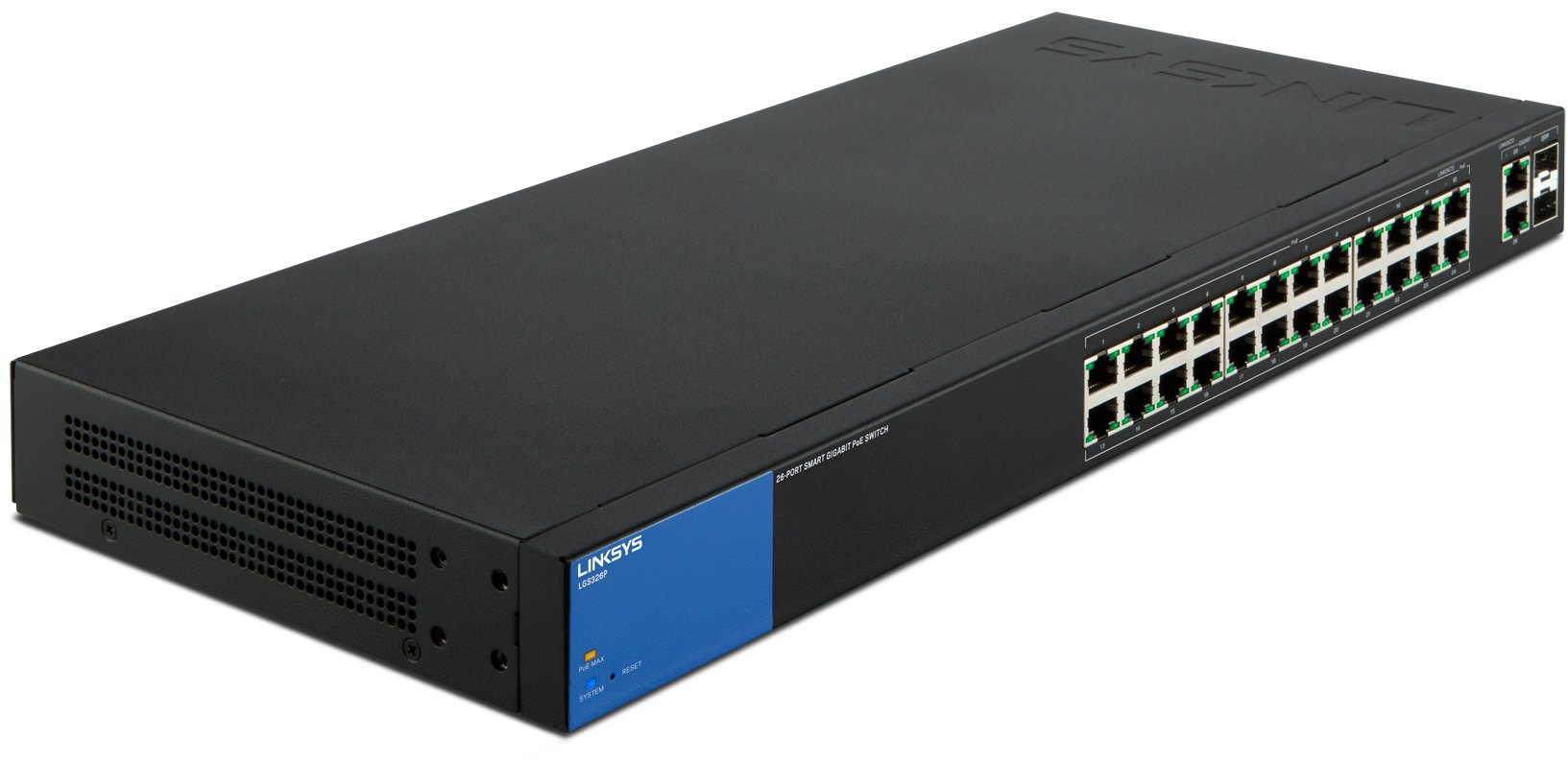Linksys Business LGS326P 24-Port Gigabit PoE+ (192W) Smart Managed Switch with 2 Gigabit and 2 SFP Ports