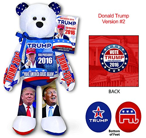 Donald Trump Collectible Bean Bear Beanie ()