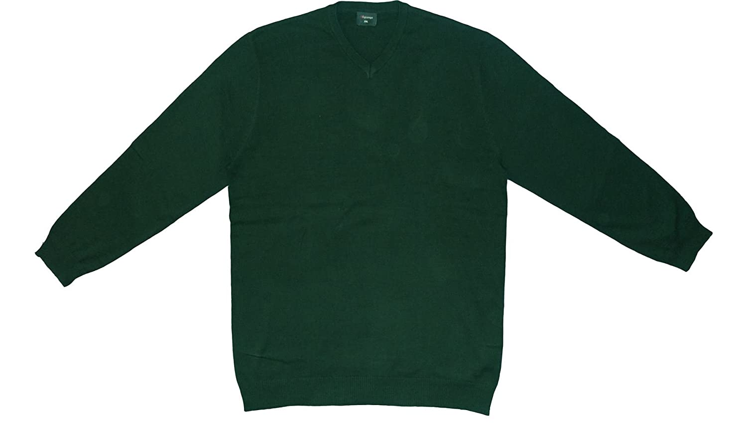 Espionage Premium Cotton V Neck Pull Over (KW031) in Bottle Green, Size 2XL to 6XL
