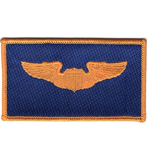 Pilot Name Patches - Pilot Wings Air Force Name Patch Blue And Gold
