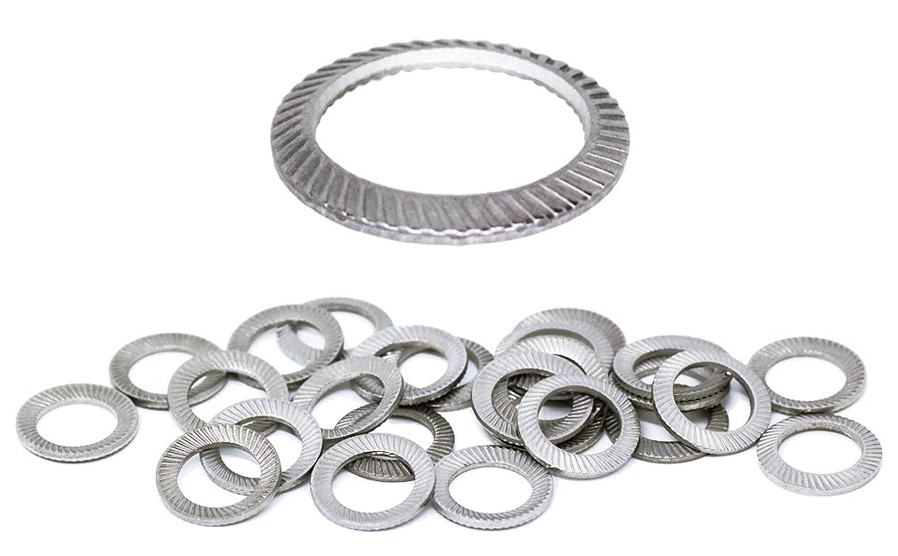 Schnorr (25pcs) M8 Stainless Brand Ribbed Safety Spring Lock Washer Metric, BelMetric WSH8SS