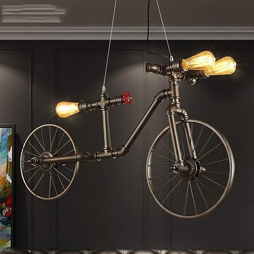 GaLon Tubo de Agua Bicicleta Colgante Industrial Lámpara Colgante ...