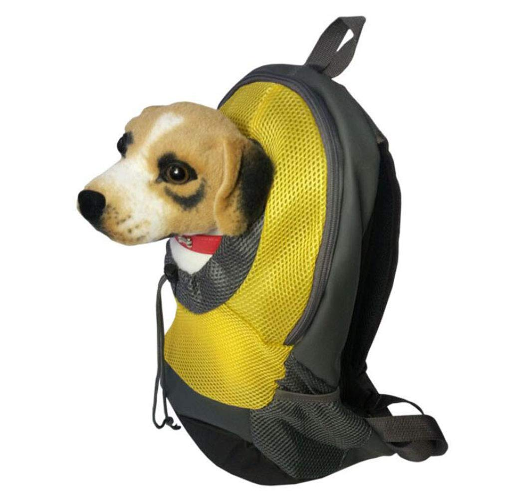 Yellow Small Yellow Small Pet Backpack Dog Bag Cat Bag Portable Breathable Shoulder Bag Dog Cat Backpack,Yellow,S