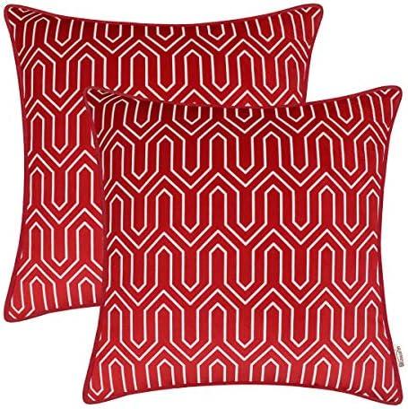 BRAWARM Vintage Geometric Decoration Burgundy product image