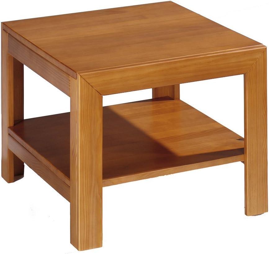 Farbe Kirsche Dogar Kynus Rechteckiger Tisch mit Ablagefl/äche