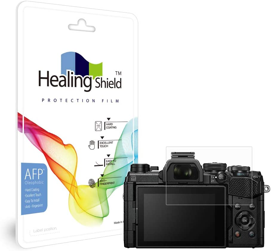 2pc Healingshield Screen Protector Oleophobic AFP Clear Film Compatible for Olympus E-M5 Mark3