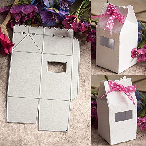 troqueles de metal para /álbumes de recortes plantillas en relieve para hacer tarjetas de papel D-SYANA8 Exquisita caja de regalo de mariposas en 3D