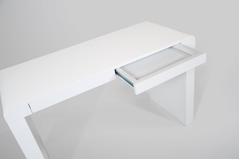 AC Design Furniture 40902 Schreibtisch Julie, Holz Lack Weiß Hochglanz Mit  2 Schubläden, Ca. 120 X 76 X 50 Cm: Amazon.de: Küche U0026 Haushalt