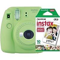 Câmera Instantânea Mini 9 + Pack 10 Fotos, Fujifilm, Instaxkit21L, Verde Lima
