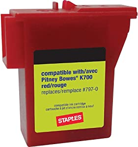 Staples 756927 K700 Postage Meter Ink Cartridge for Mailstation Series Meters