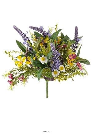 Artificielles , Bouquet de fleurs des champs variees h 25 cm en piquet