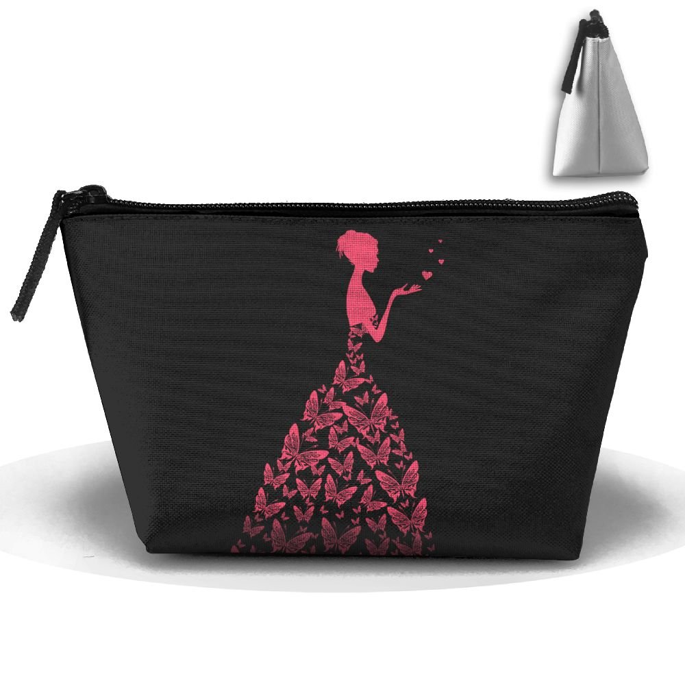 Trapezoid Portable Travel Toiletry Pouch Butterfly Wedding Girl Cosmetic Bags Multifunction Clutch Bag