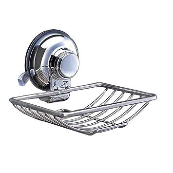funrui seifenhalter mit saugnapf wandmontage seifenschale seifenablage ohne bohren metall seifenhalterung fr dusche bad und - Seifenablage Dusche Ohne Bohren