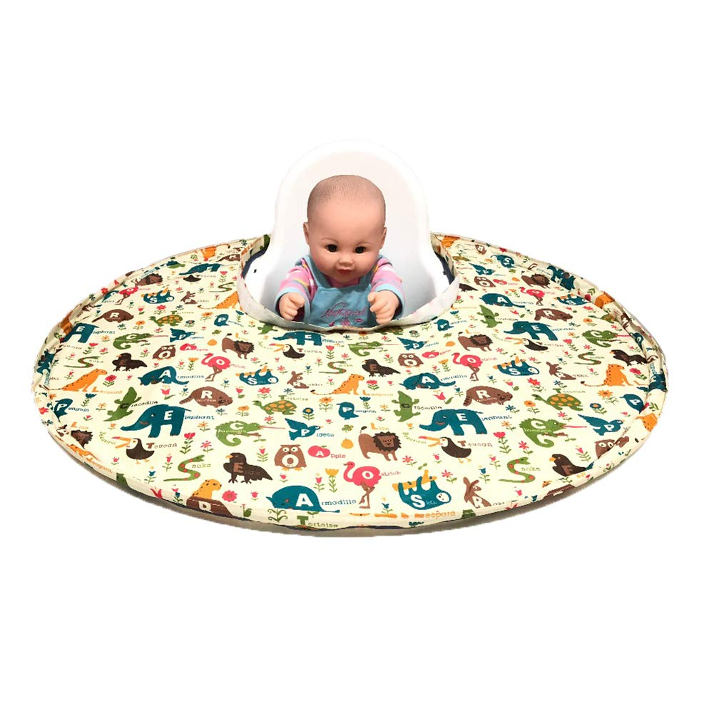 Green Aideal Baby Feeding Saucer Tray Highchair Cover Weaning Placemat for Infant Toddler Aged 6 Months 2 Years
