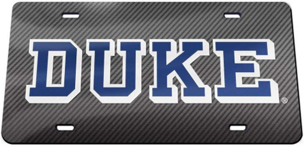 Duke Blue Devils Automotive Gift Set 1 Premium License Plate and 4 Small Window Decals