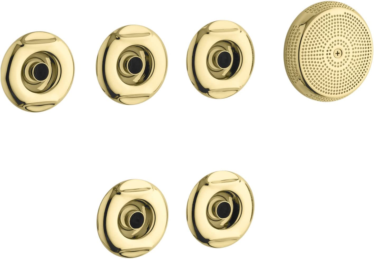 KOHLER K-9695-PB Flexjet Whirlpool Trim Kit, Vibrant Polished Brass
