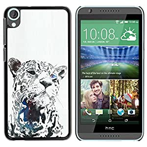 Planetar® ( Leopard Black Animal Big Cat Whiskers ) HTC Desire 820 Fundas Cover Cubre Hard Case Cover