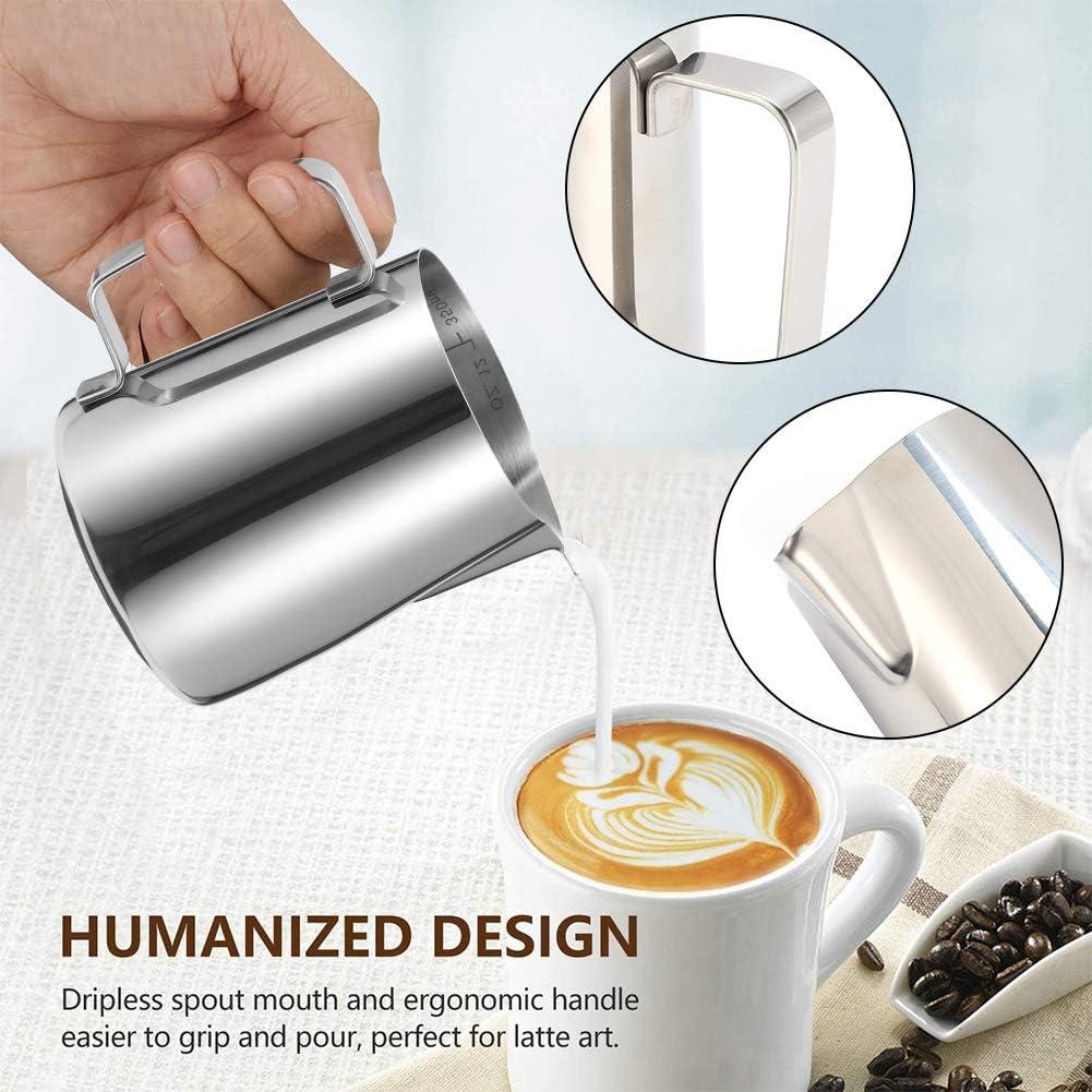 Saicowordist Pichet /à lait en acier inoxydable et stylo /à lait pour d/écoration de caf/é cappuccino