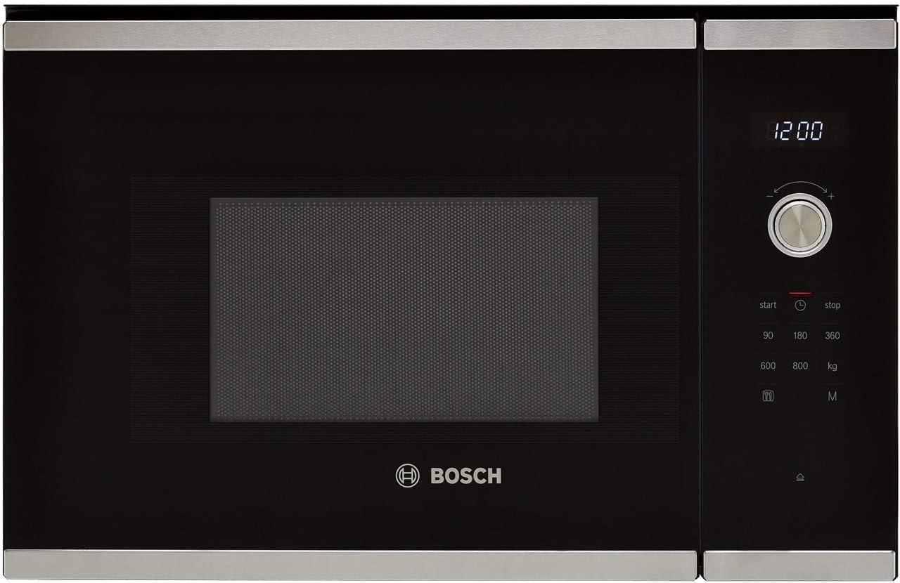 Bosch BFL524MS0B Serie 6 800W 20L - Horno de microondas integrado (acero inoxidable)