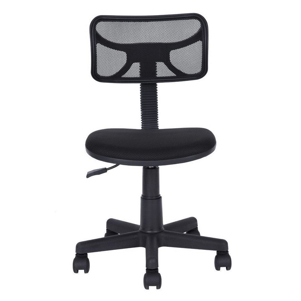 Silla de oficina Ihouse sin brazos ajustable giratoria de malla de plástico silla infantil, color negro