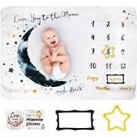 Faylor Baby Monthly Milestone Blanket Boy - Baby Photo Blanket for Newborn Baby Shower, Monthly Blanket for Baby…