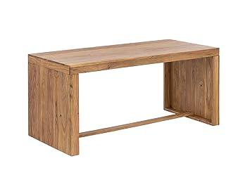 Woodkings Schreibtisch Hankey 160x70cm, Akazie Helles Holz, Massiv Rustikal  Arbeitstisch, Bürotisch Landhaus Stil
