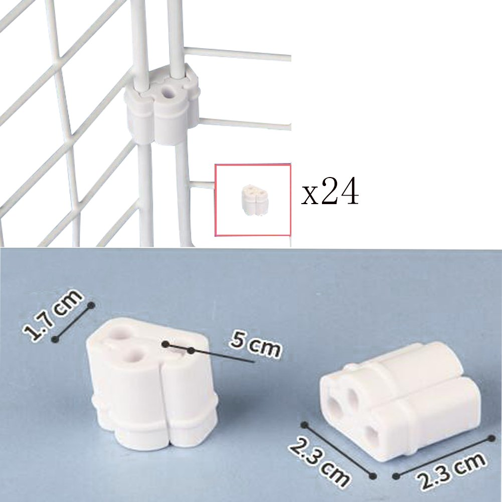 Mike Home Plastic Connection Joint For Wire Net Joining Clips Electric Fence Joiner 25pcs Grid Wall Panels Pack Of 24