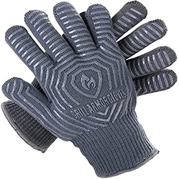 Grill Armor 932F Extreme Heat Resistant Oven Gloves - EN407 Certified BBQ Gloves For Cooking, Grilling, Baking
