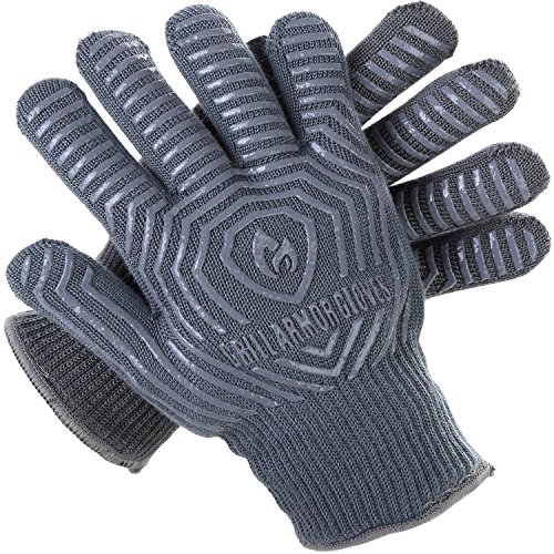 Grill Armor 932F Extreme Heat Resistant Oven Gloves - EN407 Certified BBQ Gloves For Cooking, Grilling, Baking by Grill Armor Gloves