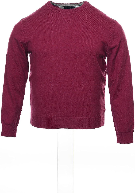 Tommy Hilfiger Mens Purple Heather Crew Neck Sweater
