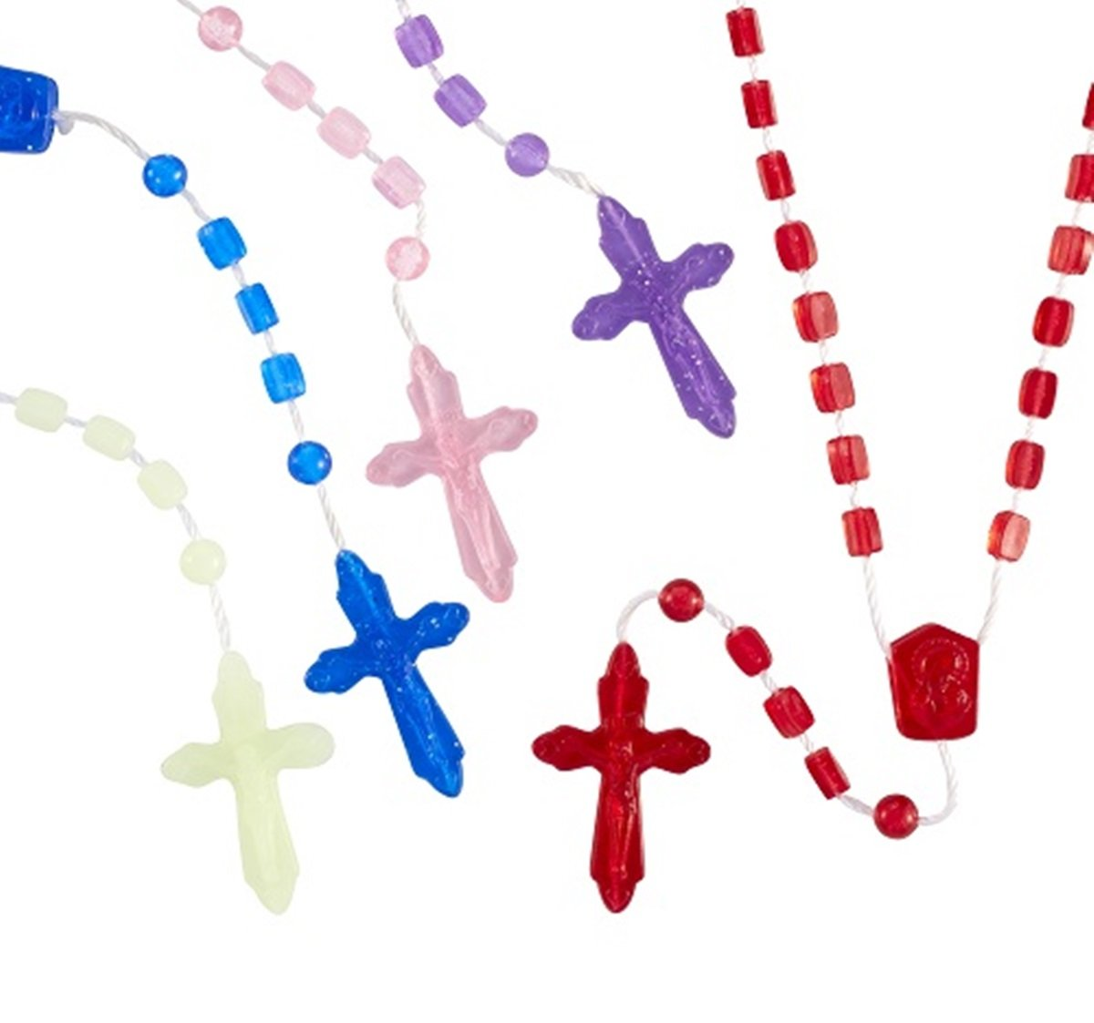 Assorted Color Catholic Prayer Bead Rosary, 12 3/4 Inch, Pack of 100 Autom