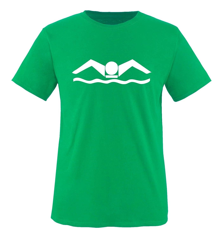 Jungen T-Shirt Rundhals 100/% Baumwolle Top Basic Print-Shirt Comedy Shirts Schwimmer