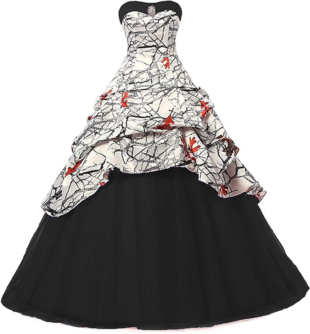 Ilovewedding White Camo Wedding Dress Tulle Ball Gown Prom Quinceanera Dresses At Amazon Women S Clothing Store