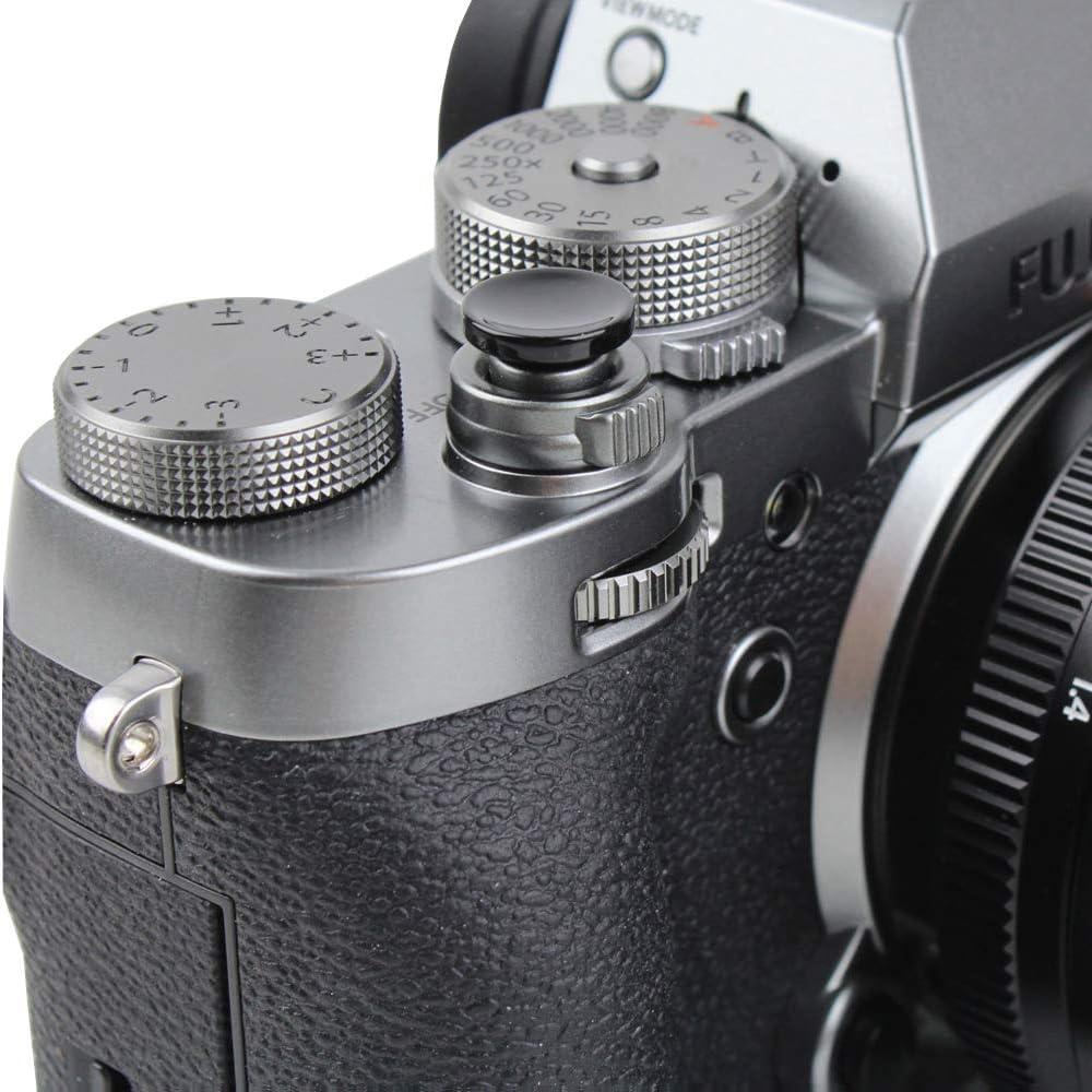 Foto/&Tech 2PC Yellow Soft Shutter Release Button Compatible with Fujifilm X-T20 X-T10 X-T3 X-T2 X-PRO2 X-PRO1 X100F X100T X100S X30 X-E2S X-E3 X-E2//Sony RX1R II RX10 IV III II//Lecia M10 M9//Nikon Df F3