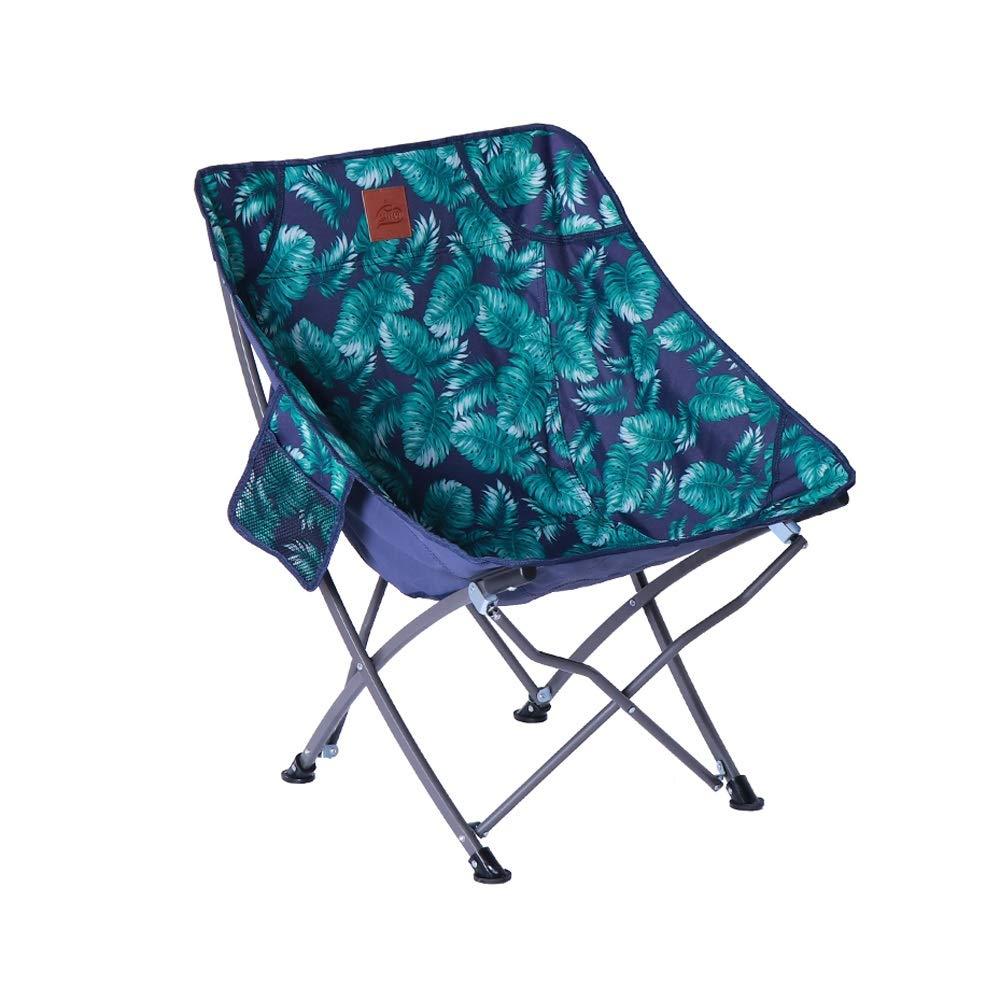 LifeX Sedia Pieghevole da Campeggio Esterna Blu con 2 Tasca a Filo conduttore da Spiaggia Pieghevole Sedia Pieghevole da Campeggio Pieghevole in Lega di Alluminio Pieghevole Sgabello da Campeggio