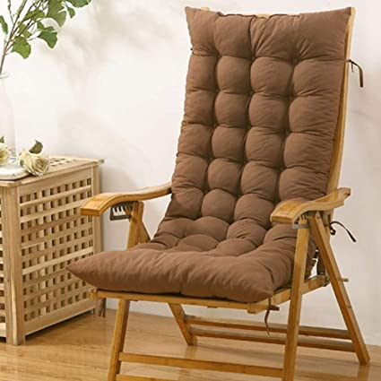 Terrific Jiaqi Thicken Rocking Chair Pad Indoor Seat Cushions One Piece Chair Pad With Ties Tailbone Pain Back Pain Tatami Brown 48X120Cm 19X47Inch Uwap Interior Chair Design Uwaporg