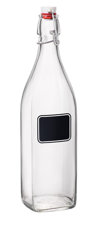 Bormioli Rocco Swing Bottle with Chalkboard, 33-3/4-Ounce Bormioli Rocco Glass Co. Inc. 314720MBE321656C