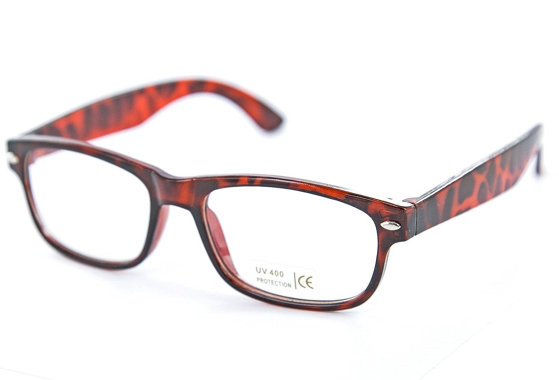 Nerd-Brille schwarz braun Horn-Brille ohne Sehstärke Herren Damen ...