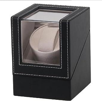 Watch Winder,Cajas giratorias para Relojes Full Black Shaker Caja giratoria Caja automática Caja de Bobina Caja de Regalo: Amazon.es: Relojes