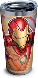 Tervis Marvel - Iron Man Iconic Insulated Travel Tumbler with Lid, 20oz - Stainless Steel, Silver