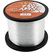 uxcell 500 Meter 1640Ft 0.60mm 37kg 81.6lbs Nylon Clear Fish Spool String Fishing Line