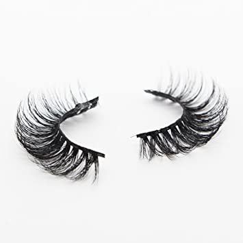 0281bf0217e Amazon.com : Ptcharming Handmade Voluminous 3D Mink False Eyelashes-Thick  Huge Dramatic Looking, Reusable with Sturdy Flexible Band, Cruelty Free  PT-MYA15 : ...