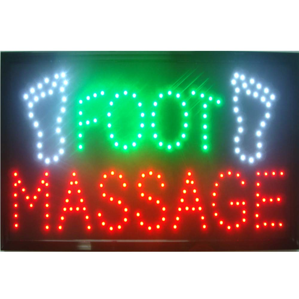 CHENXI Foot Massage Spa Shop Open Sign 48 X 25 CM (48 X 25 CM, L) by chenxi (Image #1)