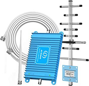 Cell Phone Signal Booster GSM 850MHz Band 5 PCS 1900MHz Band 2 Dual Bands Phone Signal Repeater Amplifier for Home and Office, up to 4000 Sq Ft, Improve Internet,Calls,Text