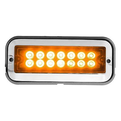 Grand General 81820 Amber/Amber Medium Rectangular 14 LED Strobe Light: Automotive